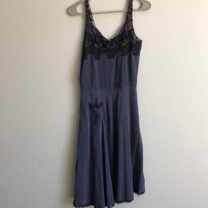 100% silk and lace Barney's beyond vintage dress